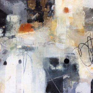 gold, rust, black, white, monochrome, abstract, joyful, contemporary