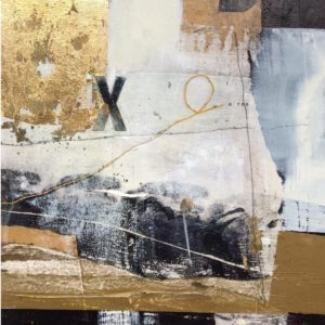 monocrhome, black, white, gold, goldleaf, abstract, Kisses