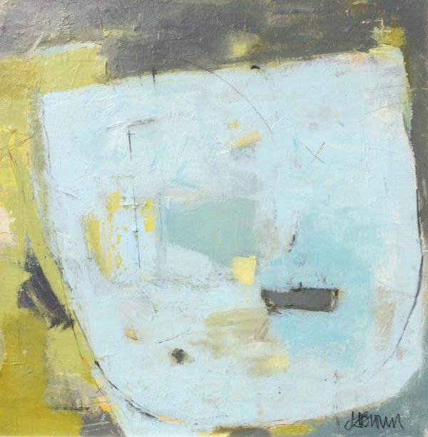 harbour, boats, green, olive, limegreen, yellow, lightblue, abstract, contemporary, modern,