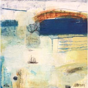 bluepainting, seascape, boats, maps, rust, blue, sailing.