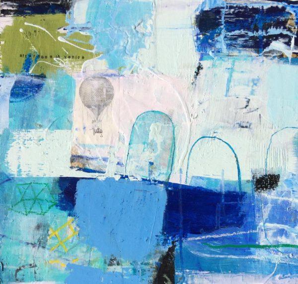 blue, hotairballoon, white, travel, maps, venice, water