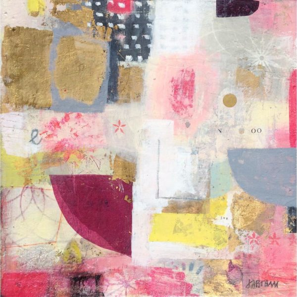 pink, white, gold, black, joyful, leaonardcohen, texture, mixedmedia, abstract ,contemporary.