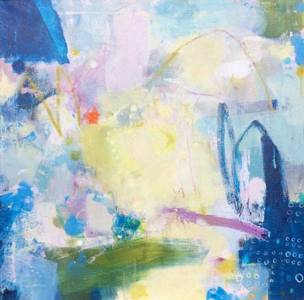 joyful abstract painting